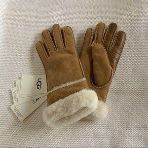 New Ugg W Sheepskin Exposed Slim Gloves